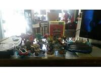 Collection of Skylanders and Disney infinity