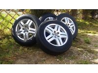 15 inch vw golf mk4 alloys with excellent condition tyres. 2 tyres are nearly brand new. 2 are excel