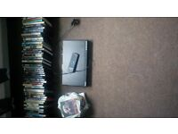 dvd player polioard and over 100 dvd job lot