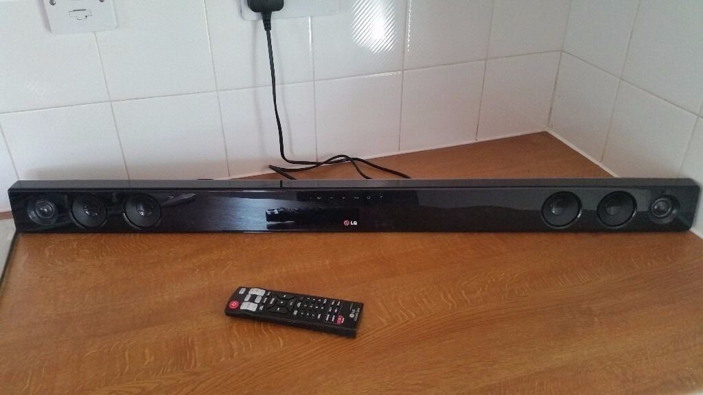 """LG 160w Dolby Bluetooth Soundbarin Bangor, County DownGumtree - LG Dolby Digital 160w Soundbar, play from TV or any device wirelessly, eg from iPhone or Android through Bluetooth connectivity, superb piece of kit, amazing for action movies etc. Cost £99 in June 2015 with LG 55"""" 4K TV so bargain at £40 only"""