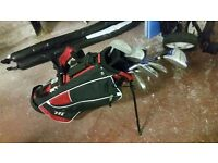 Kids golf set and carry caddy + a full size donnay trolly