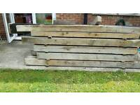 Solid Wooden Sleepers / Posts
