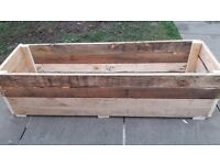 Hand made planters rectangular 1.2meter long 1feet width 11inch high £25 Each free local delivery