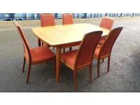 Very Good Condition Teak Extendable Table With Chairs,Can Deliver