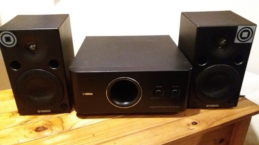 yamaha msp5a active studio monitor speakers new subwoofer yamaha yst fsw050 in harrow london. Black Bedroom Furniture Sets. Home Design Ideas