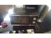 Cookworks microwave black and silver good working order