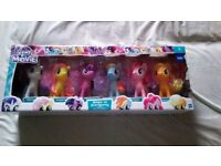 """My little pony set, brand new, medium ponies, about 6"""" tall each"""