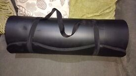 Heavy Duty Yoga Mat, with carrying straps.