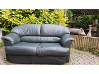 Small compact 2 seater leather sofa