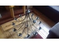 Grand wrought iron chandelier