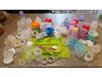 Avent bottles, pump, sippy cups teets etc