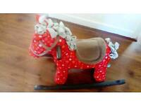 Doodle and crumb infant rocking horse