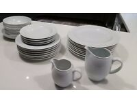 denby white tableware