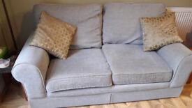 M&S 2 Seater Sofa (Duck Egg blue)