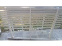 """"""" X2 """" WHITE REAL WOOD VENETIAN WOODEN BLINDS with 50mm SLATS"""