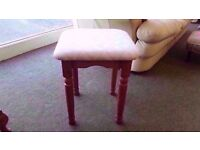 BRAND NEW! dressing table stool beige colour simple design with solid pine base
