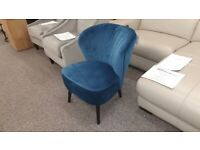 Julian Bowen Coco Blue Velvet Chair Can Deliver