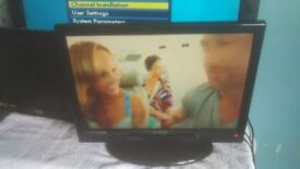3 by lcd tvs 2 by 19 inch and 1 by 22 inch all working no remote 75 for the 3