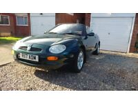 Mgf 1.8 convertible sports car with adam number plate