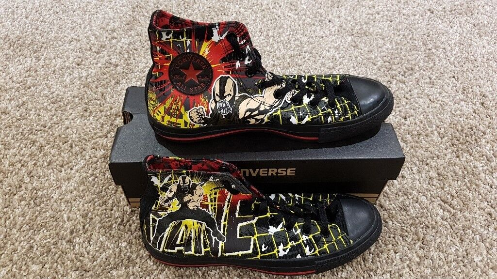 e1804fa45f62 Official Dark Knight Rises Limited Edition Bane Themed Converse Hi-Tops -  Mens UK Size 9