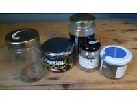 5 free jam jars with lids various sizes