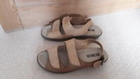 Hobos beige suede sandals for sale, very good condition as hardly worn, size 7