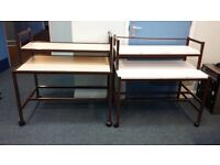 Free computer tables x 3