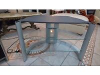 Grey / Silver Glass TV Stand
