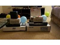 Bundle of Sky HD boxes and Super hubs