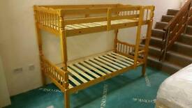 Brand New Melissa Honey Pine Bunk Beds. Good Quality. STRONG & STURDY.
