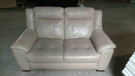White leather 2 seater sofa Free Delivery