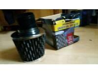 Carbon/chrome air filter