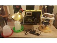 Grow your own chicks 🐣FULL SET UP🐣 egg incubator heat lamp brooder heater feeder egg candler