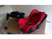 Maxi cosi cabriofix car seat and base