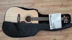 Acoustic Guitar (steel strung) with gig bag