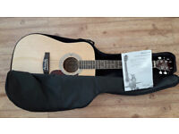 Acoustic Guitar (steel strung) with gig bag