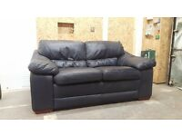 Nice comfortable dark leather sofa for sale