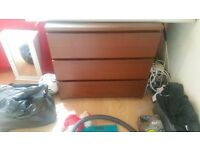 Dark brown Ikea drawers