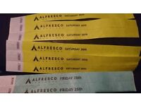 ALFRESCO FESTIVAL TICKETS