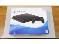 PS4 Slim (500BG) Bundle - 2 Controllers, 5 Games, Boxed