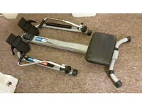Rowing machine - pro fitness hydraulic rower, counts calories etc and folds away