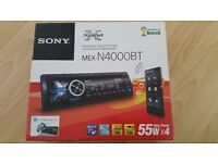 Sony car stereo with bluetooth and phone contectivety