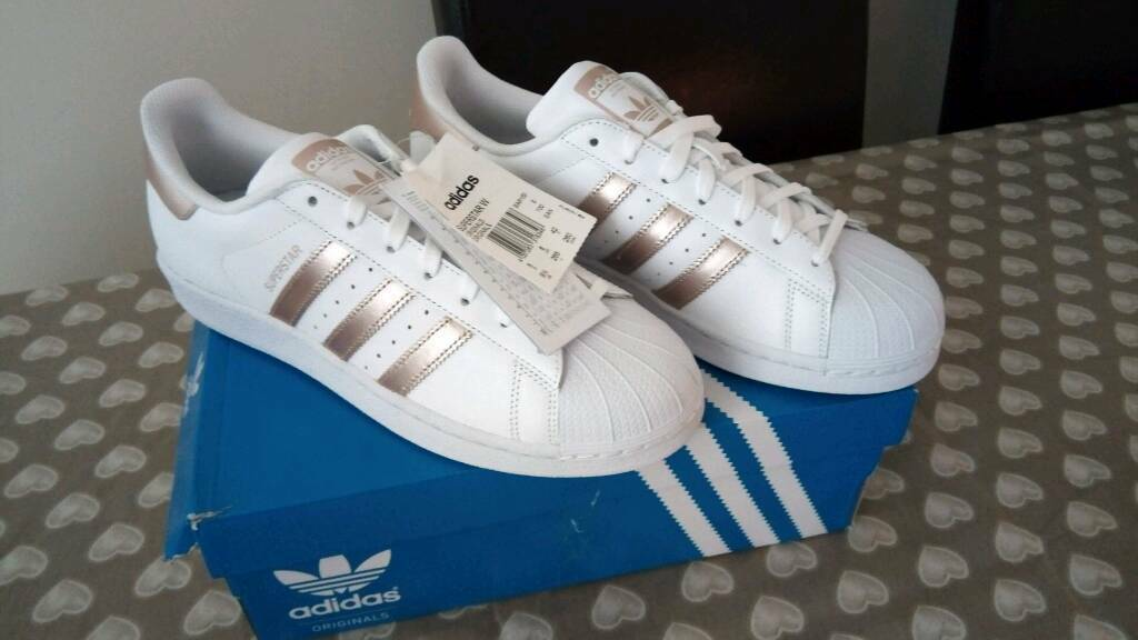 size 40 25e38 f2c93 ... new zealand adidas superstar white rose gold womens trainers size 8  1d809 a1934