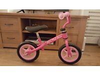 Chicco pink balance bike, brand new