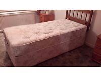 Single Electric bed & Pine headboard... VGC