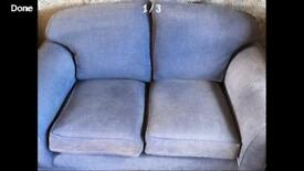 small blue sofa