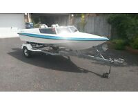 "Speedboat 14"" Yamaha 50,Extras included, one owner has been garaged and very well looked after."
