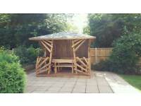 Bespoke wooden gazebo quality solid summer house shed