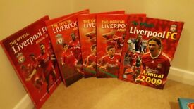 Liverpool annuals 2009 to 2012.