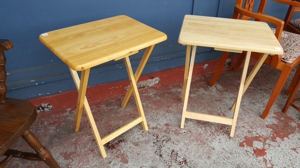 2 Rubberwood Side/ End Tables